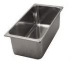 containers for ice cream in stainless steel 330x165 mm