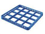 TRIA16 Rialzo 16 scomparti per cestello lavastoviglie 50x50 h4,5 blu