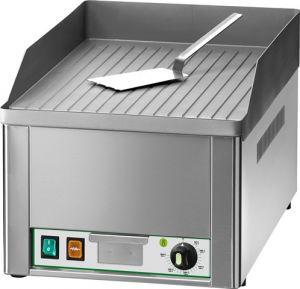 FRY1R Fry top elettrico da banco monofase 3000W piano singolo rigato acciaio