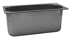 VG422025 Vaschetta gelato in acciaio inox 420x200x h250 mm