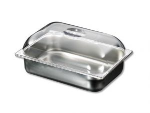 VGCV010 NEW Polycarbonate dome lid for icecream pans dim.360x250 mm