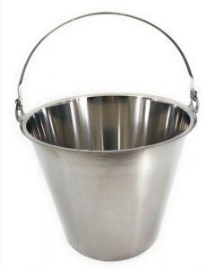 SE-G10 Secchio in acciaio inox graduato 10 litri