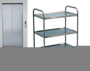 TEC1111 Carrello tecnico acciaio inox AISI 304 3 piani smontabile 60x44x95h