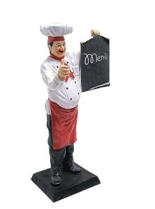 ER004 Cook with black-board high 140 cm