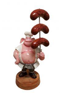 SR004A WURSTEL con maiale - WURSTEL pubblicitario 3D per gastronomia altezza 230 cm