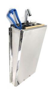 SUPERWASH-SILVER  Lavaporzionatore carenato lungo in acciaio inox professionale SHOWER