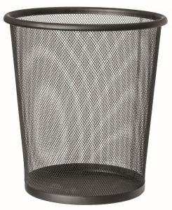 T150531 Gettacarte perforato metallo nero 13 litri (multipli 20 pz)