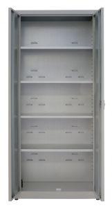 IN-Z.694.04.50 Armadio Portaoggetti a 2 Ante zinco plastificato 80x50x200 H
