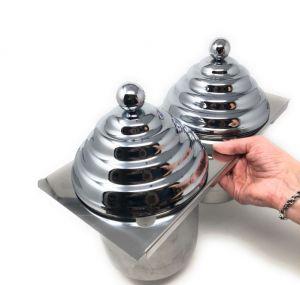 VGCV-2MINI-C Kit 2 mini carapine con coperchi piramidali SIMIL-CROMATI da inserire in vetrina gelato