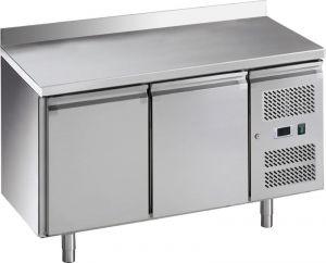 G-GN2200BT-FC Tavolo refrigerato ventilato con alzatina, telaio inox Aisi 201