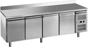 G-GN4200BT-FC Tavolo freezer ventilato 4 porte in acciaio inox AISI 201