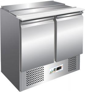 G-S900- Saladette a refrigerazione statica per insalate in acciaio inox AISI304