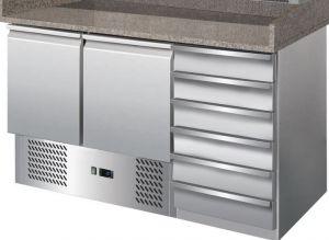 G-S903PZCAS-FC Tavolo refrigerato con funzione di banco pizza in acciaio inox AISI201