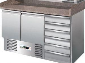 G-S903PZCAS- Banco refrigerato pizzeria statico  con cassettiera per impasto pizza
