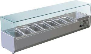 VRX1500-330-FC Vetrina refrigerata inox aisi 201 per bacinelle
