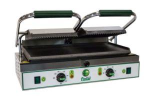 PE50LN Piastra cottura in ghisa doppia liscia/rigata monofase 3400W