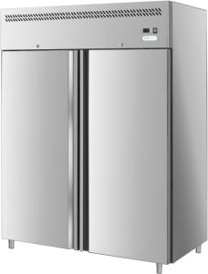 G-GN1410BT-FC - Ventilated double door refrigerator with stainless steel frame AISI201