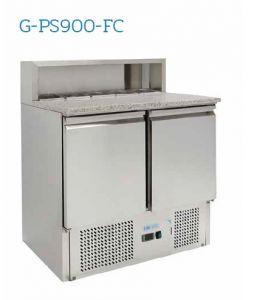 G-PS900-FC Refrigerated saladette - Temperature + 2 ° / + 8 ° C - N. 2 doors - Capacity 240 liters