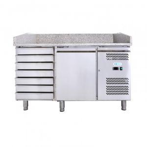 G-PZ1610TN-FC Ventilated Pizza Counter 1 Door + Drawer - Capacity Lt 390
