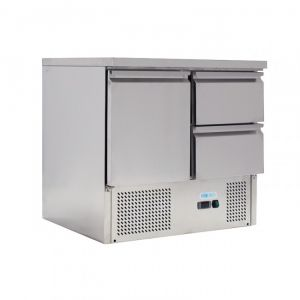 G-S901-2D-FC Static saladette for salads GN1 / 1 - 1 door 2 drawers - capacity Lt 230