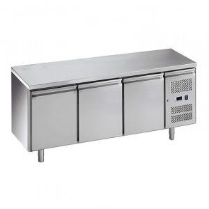 G-SNACK3100TN-FC Ventilated Refrigerated Counter 3 Doors - Temp -2 ° + 8 ° C - Capacity Lt 239