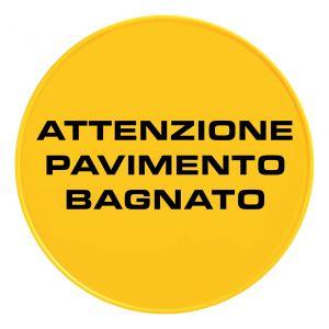 S210813 Tabella Rotonda Segnale Piramidale - It - Giallo