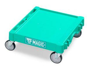 T09060401 Base Magic Mini - Verde - Ruote Con Freno Ø 100 Mm