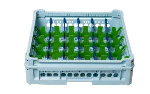 GEN-K25x6 CESTA CLASSICA 30 SCOMPARTI RETTANGOLARI - Altezza bicchiere da 65mm a 120mm
