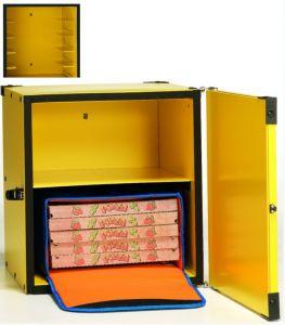 BP33CR Box pizza coibententato 2 borse termiche ø 33 cm o 10 cartoni da ø 40 cm