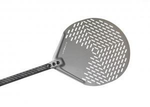 C-41F Pala pizza alluminio forata tonda ø 41 cm, manico in carbonio 150 cm