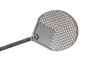 C-45F Pala pizza alluminio forata tonda ø 45 cm con manico in carbonio 150 cm