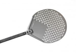 C-50F Pala pizza alluminio forata tonda ø 50 cm con manico in carbonio 150 cm