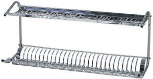 TSPB 1398 Scola piatti/bicchieri da muro acciaio inox 80x26x37