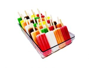 VGGR10P Portaghiaccioli  in policarbonato per gelato a stecco per vetrine gelato