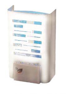 T903123 Mini sterminatore d'insetti con carta moschicida - Acciaio bianco