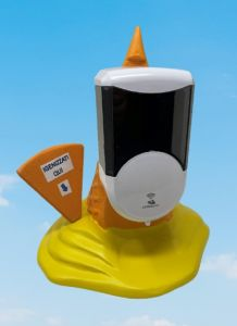EG-IGI2 Cono gelato capovolto con inserito distributore automatico elettronico di sapone liquido
