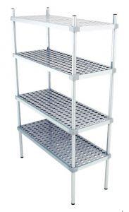 Scaffale in alluminio 4 ripiani dim. cm 100x50x160h code: SN50100H160