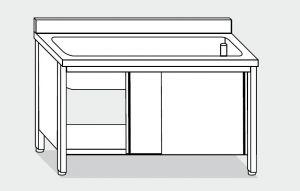 EU01720-16 lavapentole armadio ECO cm 160x70x85h  tutta vasca - porte scorrevoli