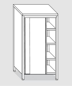 EU04205-13 armadio verticale ECO cm 130x60x200h porte scorrevoli - 3 ripiani regolabili