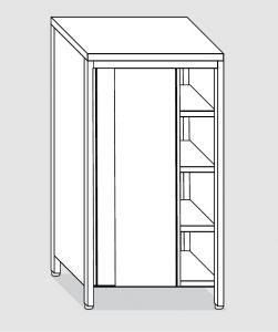 EU04205-15 armadio verticale ECO cm 150x60x200h porte scorrevoli - 3 ripiani regolabili