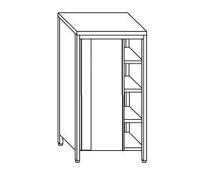 EU04305-14 armadio verticale ECO cm 140x70x200h porte scorrevoli - 3 ripiani regolabili