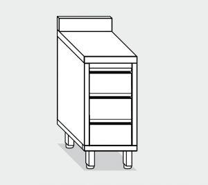 EU05526-04 cassettiera c3 ECO cm 40x60x85h piano alzatina