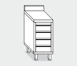 EU05547-04 cassettiera c4 ECO cm 40x70x85h piano alzatina