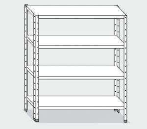 EU77265-16 scaffale con 4 ripiani lisci ECO cm 160x50x180h