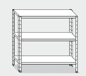 EU77464-14 scaffale con 3 ripiani lisci ECO cm 140x40x150h