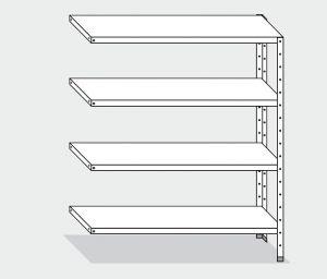 EU77763-14 scaffale con 4 ripiani lisci ECO cm 140x30x180h kit laterale
