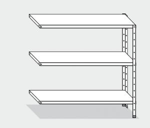 EU77963-12 scaffale con 3 ripiani lisci ECO cm 120x30x150h kit laterale