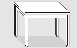 EUG2106-08 tavolo su gambe ECO cm 80x60x85h-piano liscio
