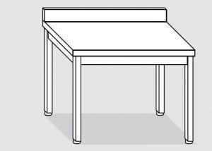 EUG2117-14 tavolo su gambe ECO cm 140x70x85h-piano con alzatina