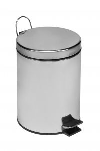 T101050 Polished Stainless Steel Pedal Bin 5 liters (multiple 6 pcs)